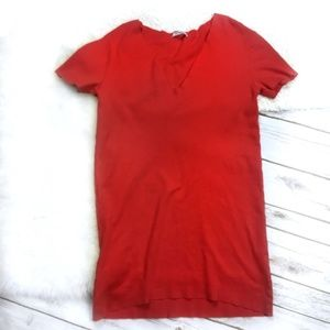 Zara Red-Orange T-shirt Dress